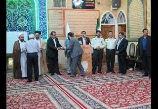 حضور مسئولین و فعالین صنف طلا و جواهر در مراسم گرامیداشت هفته دفاع مقدس