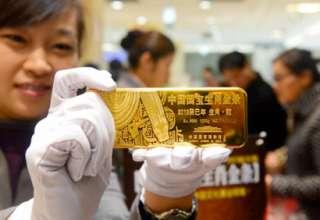 واردات طلای چین از هنگ کنگ به پایین ترین سطح در 7 ماه اخیر رسید