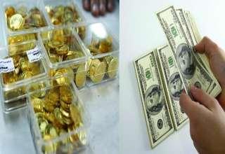 پرونده سکه و دلار بازار آزاد در سال 95 نزولی بسته شد