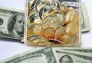 دلار و سکه خلاف جهت یکدیگر حرکت کردند