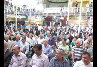 برگزاری جشن گرامیداشت دهه کرامت در بازار طلای تهران