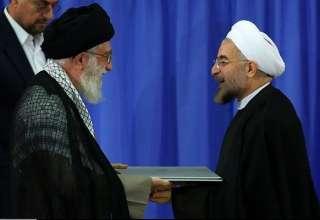 رهبر معظم انقلاب حکم ریاست جمهوری روحانی را تنفیذ کردند