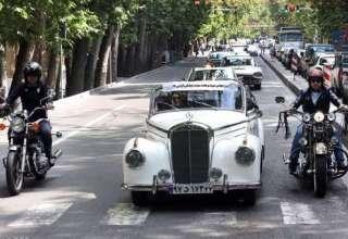 رژه خودروهای کلاسیک در تهران (عکس)