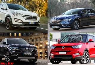 آخرین قیمت خودروهای وارداتی در تهران افزایش ۵ تا ۲۰ میلیونی برخی خودروها
