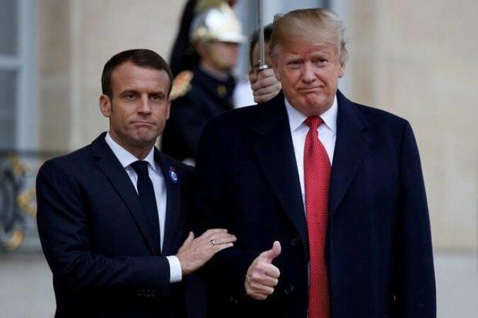 ترامپ و مکرون درباره ایران گفتوگو میکنند