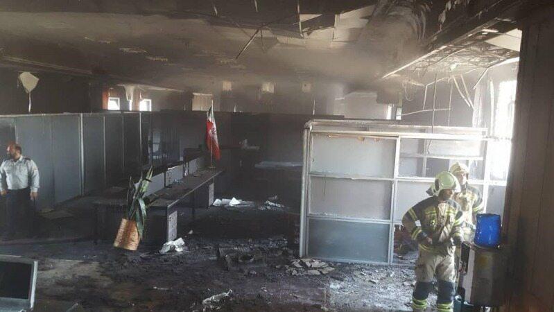 ساختمان بازار متشکل ارزی در آتش سوخت