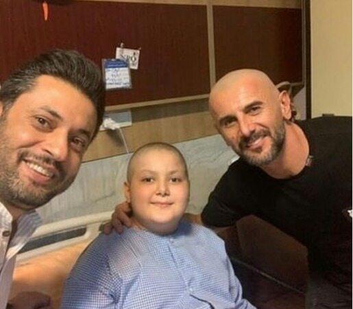 کلیپ دیدار امین حیایی با پسر مبتلا به سرطان